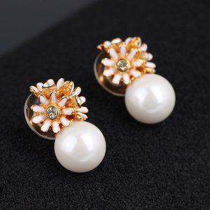 🎁NWT Kate Spade Pearl Daisy Earrings